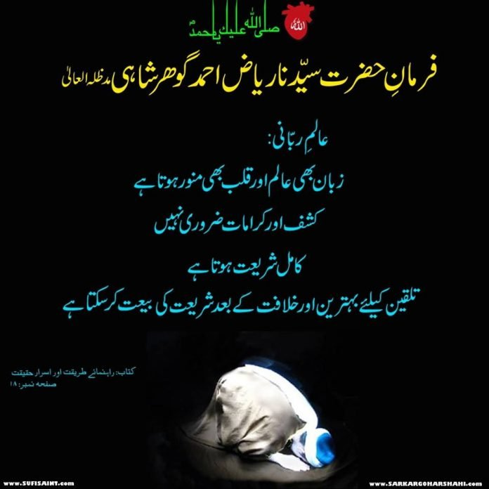 Aalim e Rabbani Explained By Sarkar Gohar Shahi